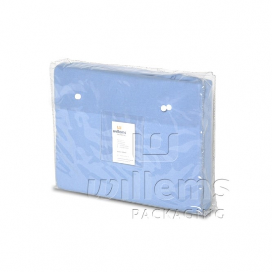 clear PVC bag with push button
