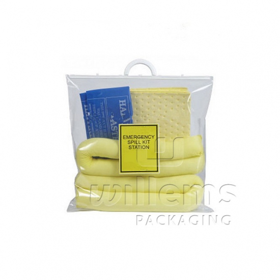 Spill Kit bag transparent with handle