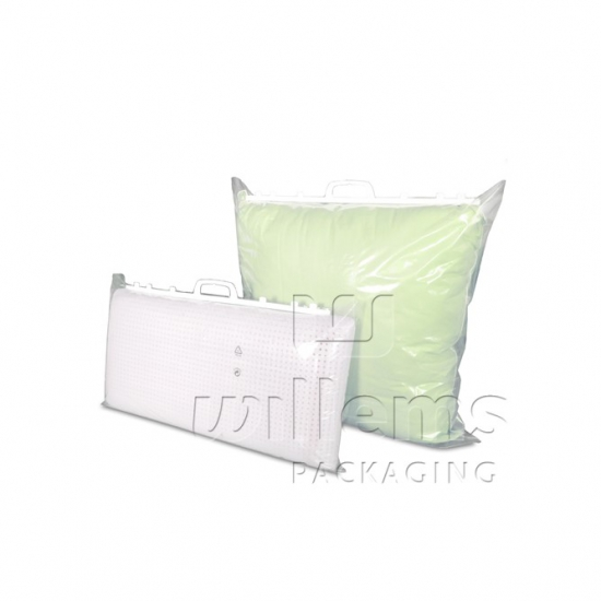transparent LDPE carrier bag with handle