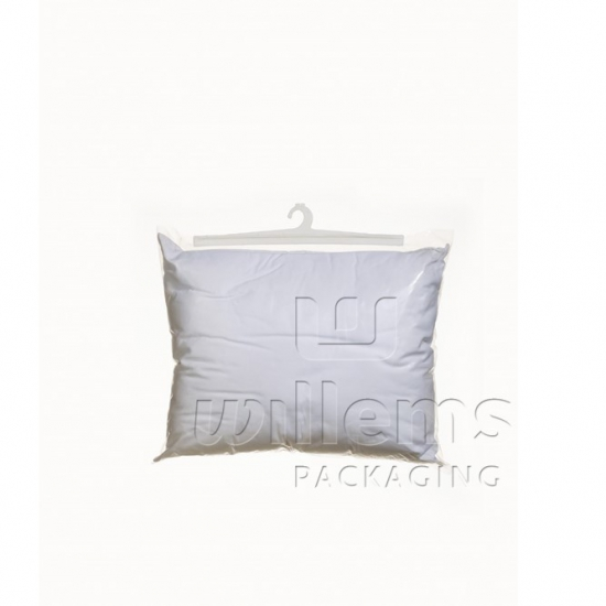 Bag for pillow with attached/ sealed  hook