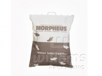 Clip close handle carrierbag printed
