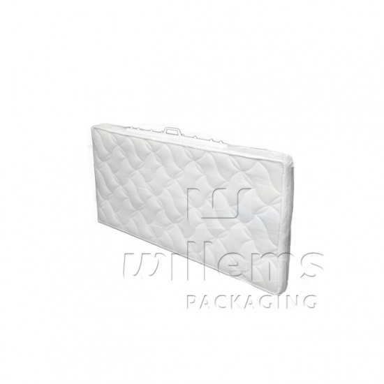 Transparent mattress cover with zipper and handle