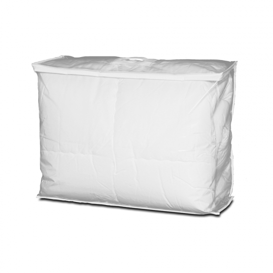 LDPE transparante draagtas, met wit PP non woven, Willems Packaging